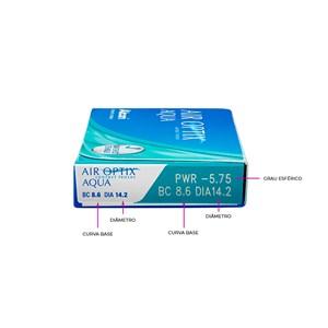 Lente de Contato Air Optix Aqua Grau Mensal