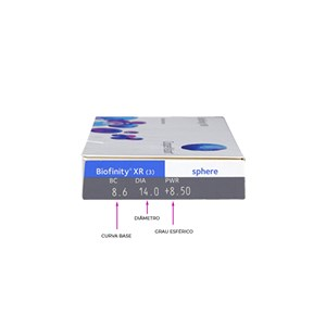 Lente de Contato Biofinity XR com Grau Mensal
