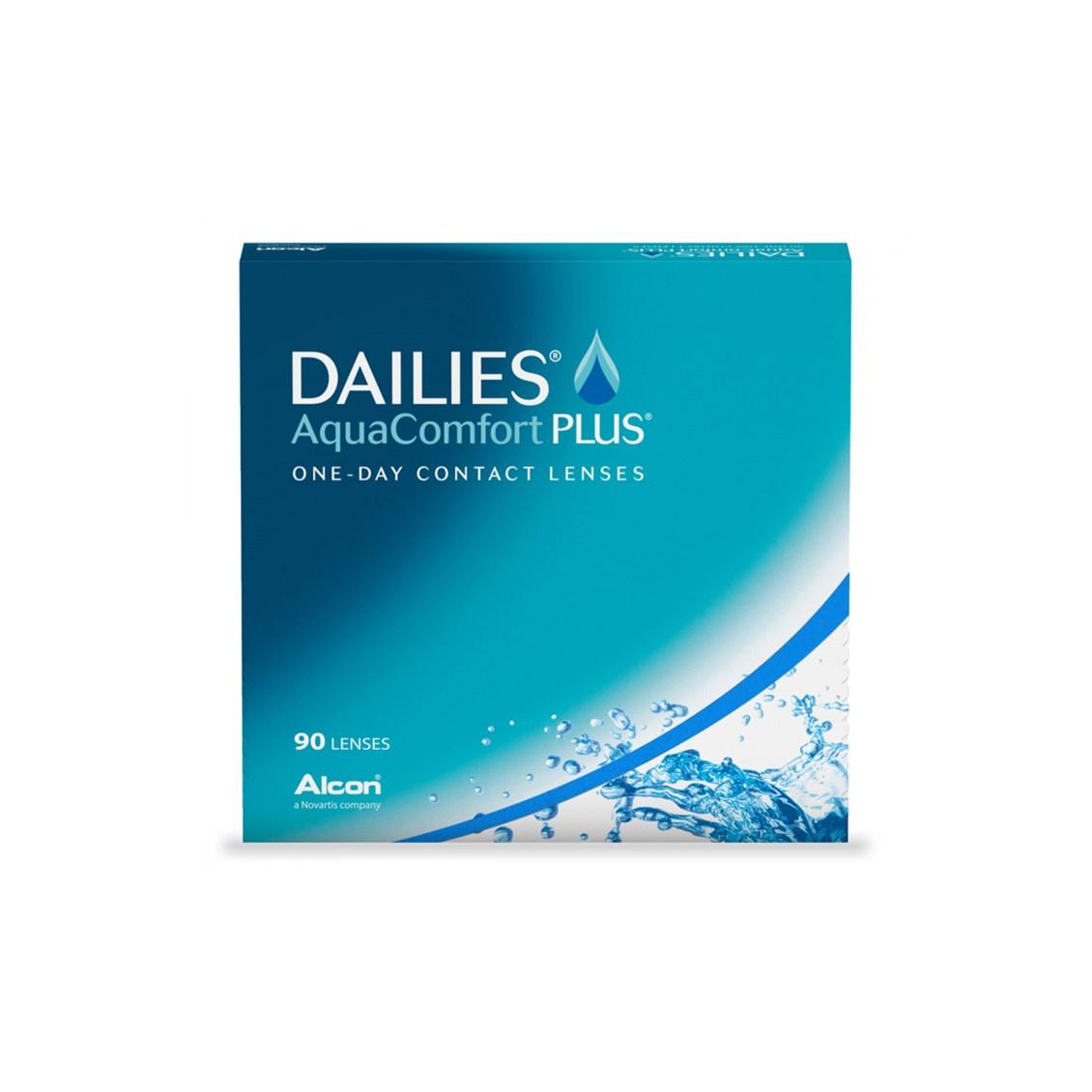 Lente de Contato Dailies Aqua Comfort Plus Grau Diário - 90 Lentes