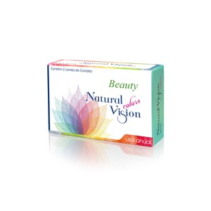 Lente de Contato Natural Vision Beauty Color Grau Anual