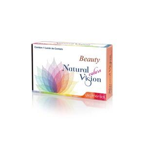 Lente de Contato Natural Vision Beauty Color Grau Mensal