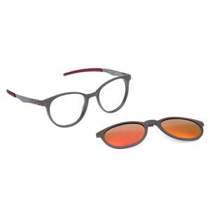 Óculos de Grau HB Duotech 0253 Clip On Matte Graphite Polarized Red