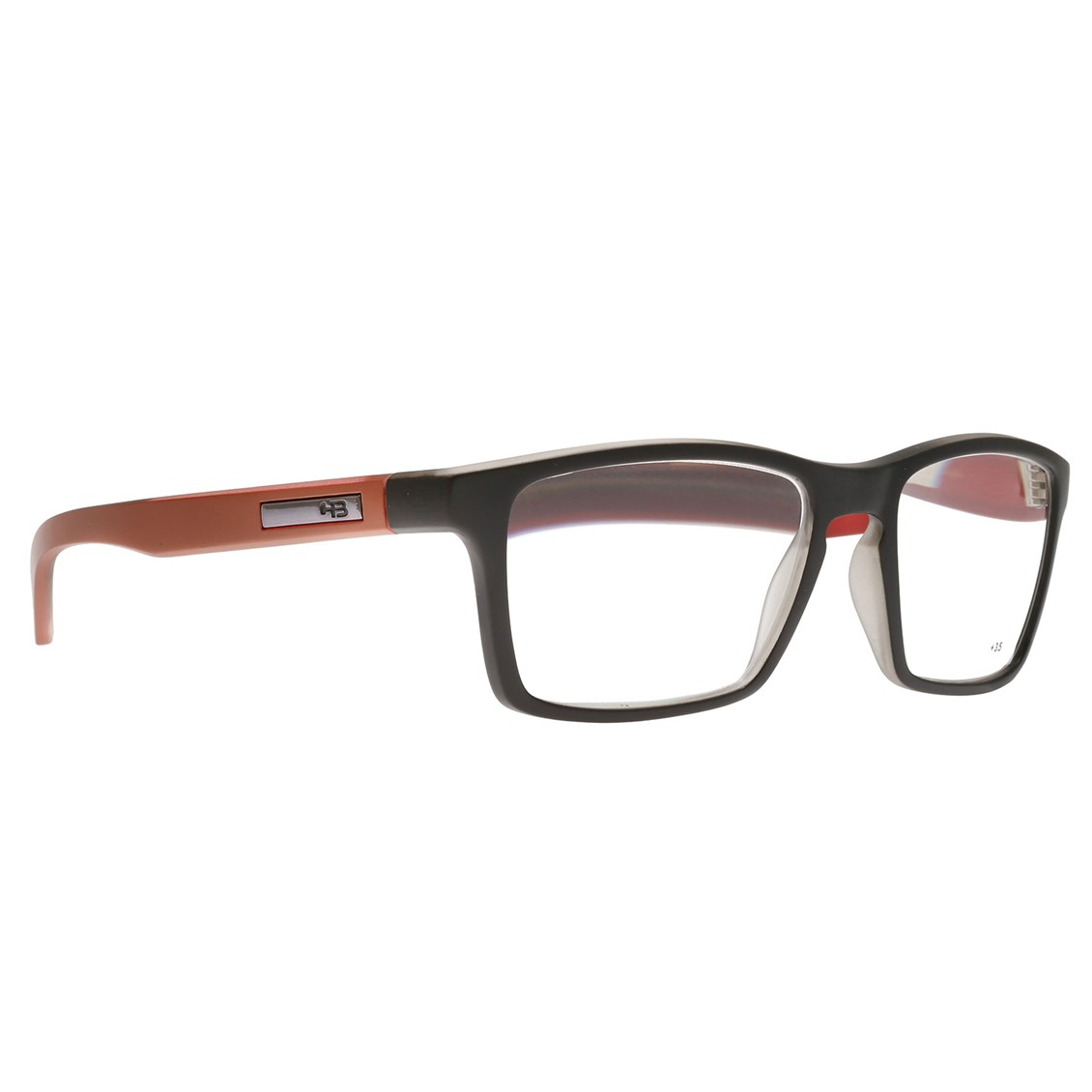 Óculos de Grau HB Polytech 93116 Matte Black/Rust On Red 792/33 - Grau +4.0