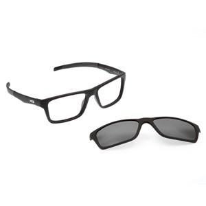 Óculos de Grau HB Switch Clip On 93160 Matte Black Polarized Gray