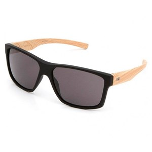 Óculos de Sol HB Freak Matte Black Wood Gray