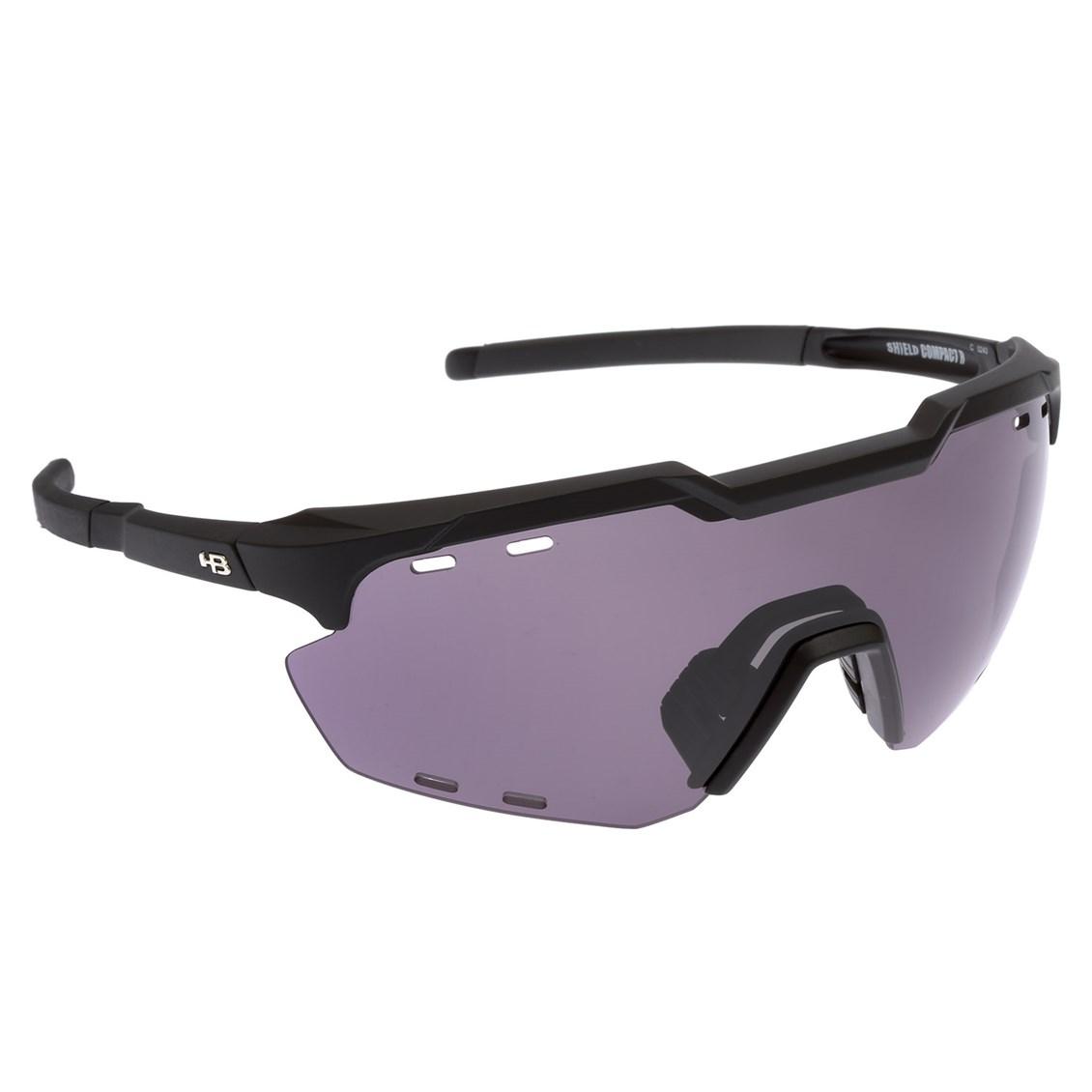 Óculos de Sol HB Shield Compact Road Matte Black Gray