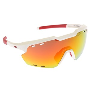 Óculos de Sol HB Shield Compact Road Pearled White Multi Red