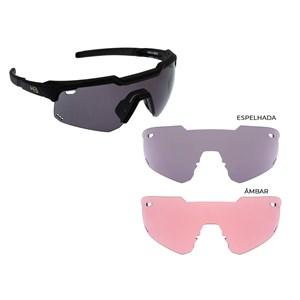 Óculos de Sol HB Shield EVO Mountain Kit 2 Gray Silver Amber