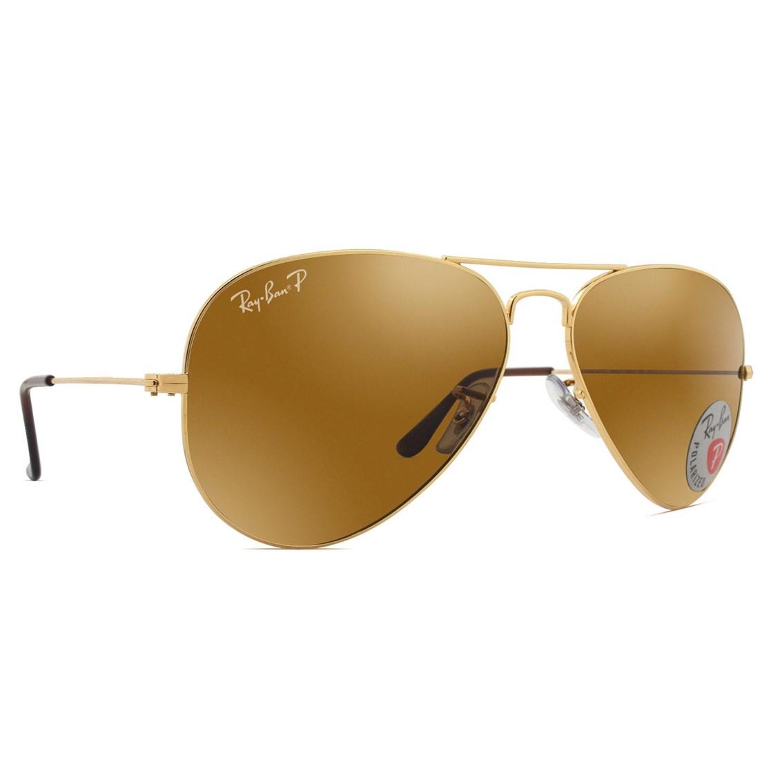 Óculos de Sol Ray Ban Aviator Polarizado RB3025L 001/57-58