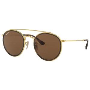 Óculos de Sol Ray Ban Round Double Bridge Polarizado RB3647N 001/57-51