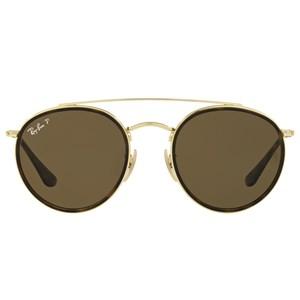 Óculos de Sol Ray Ban Round Double Bridge Polarizado RB3647NL 001/57-51