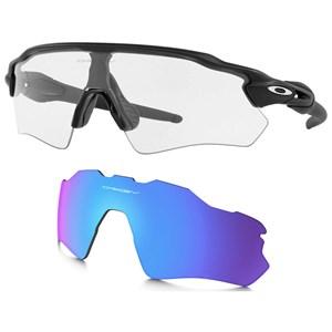 Óculos Oakley Radar Ev Path Clear + Lente Prizm Sapphire
