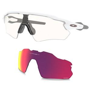 Óculos Oakley Radar Ev Path White Clear + Lente Prizm Road